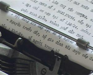 chữ của máy đánh chữ