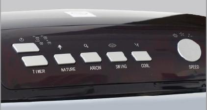 nút bấm của quạt hơi nước sumika D702