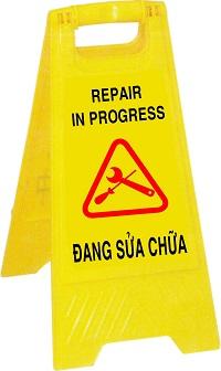 biển báo đang sửa chữa